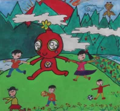 未来世界科幻画 儿童科幻画未来世界