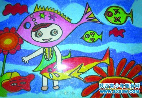 儿童画《海底世界》