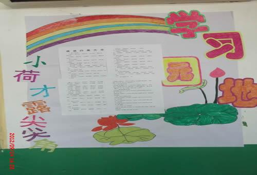 中小学教室布置班级文化墙贴 评比栏班务公告栏班