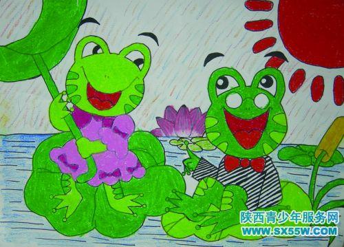 《荷叶上的青蛙》