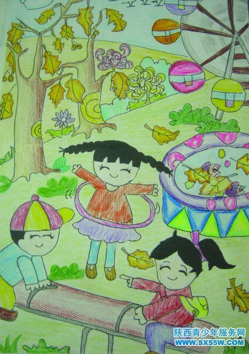 儿童画《小伙伴》