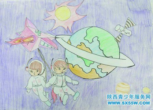 我的梦想宇航员手抄报
