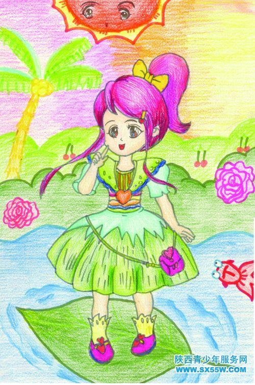 儿童画《花仙子》